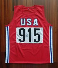 13921c58fed7 Carl Lewis Autographed Signed Jersey USA Team Track Olympics JSA