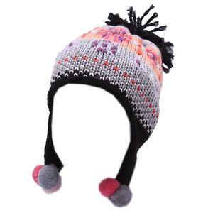 5012Y cuffia bimba girl CATYA wool multicolor berretto hat