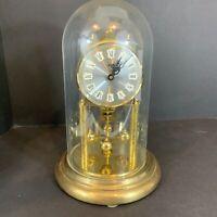 VIntage S. Haller Simonswald ANNIVERSARY Wind Up Plastic Dome Clock No Key Parts