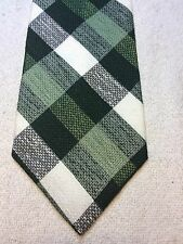 Vintage Gino Pompeii Mens Tie 4.5 X 56 Shades Of Green And White Plaid