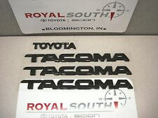 Toyota 2012 2013 2014 2015 Tacoma Black Emblems Genuine OEM OE