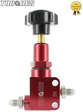 TORQUES AN-3 (-3AN) MALE Billet Aluminium Adjustable Brake Bias Valve in Red