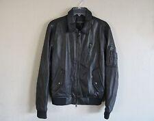 BANANA REPUBLIC Leather Flight Bomber Jacket black SMALL  NWT/$550