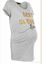 New Look Grey Maternity T shirt/top. Best dressed bump. Sizes 10,12 & 14. BNWT