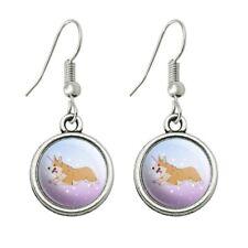 Dangling Drop Charm Earrings Unicorg Corgi Unicorn Novelty