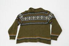 Women's Norwegian Wool Jumper Sweater Green Size XL