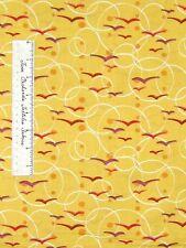 Modern Mod Fabric - Andover Flock Thomas Knauer Birds Yellow Pink /Yd