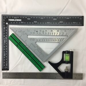 """METAL ROOFING/RAFTER/SET SQUARE COMBI 300mm 6"""" SPEED SQUARE ALLOY RAFTER pencils"""