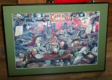 "Large 16 X 23"" Comical Framed Print ""Croc Inn Sand Barr"" by Rose Rigden  DR"