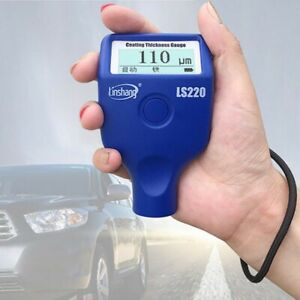 LS220 Automotive Paint Meter Thickness Coating Thickness Meter 0.0-2000um LCD#SZ