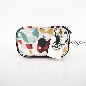 NWT Kipling KI0768 50 Pens Case Cosmetic Accessory Box Nylon Music Print Multi