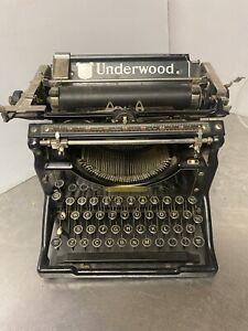 Antique Underwood Standard Typewriter No. 5 For Parts/Repair** Read Description