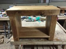 Oak Rectangle Side & End Tables with Shelves