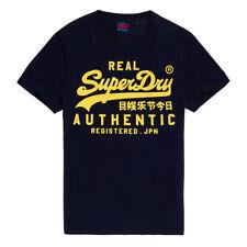 Superdry Herren Vintage Authentic Fluro Tee T-Shirt M1000056B Blau