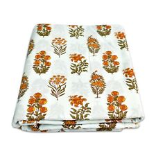 Indian Hand Block Printed Cotton Fabric Dressmaking Handmade Material 10 Yard HD