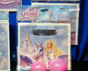Barbie Magic of Pegasus Party Set # 6 or 7 Stickers Banner Tablecover Loot Bags