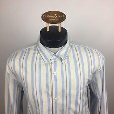 Banana Republic Mens L/S Dress Shirt Sz XL 17.5 Blue Stripe Cotton