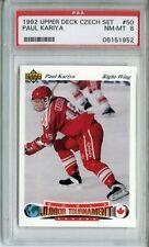 1991 Upper Deck Czech World Juniors #50 Paul Kariya Rookie Card PSA 8 NM-Mint