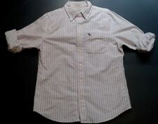 New Abercombie & Fitch Men's Muscle Fit Button Front Pink Striped Shirt M
