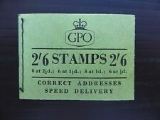 GB Wilding 1955 Sept 2/6 Booklet SGF34 FP9078