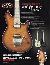 Eddie Van Halen 2011 EVH Wolfgang Special  Guitar Series advertisement print ad