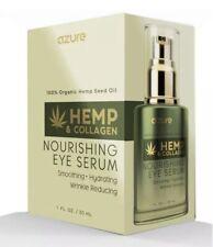 Azure Hemp & Collagen Nourishing Eye Serum, 1 Fl Oz With 100 % Organic Hemp NIB