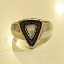 Retired Carolyn Pollack Ring Sterling Silver Jasper Inlay MOP  RELIOS Size 8