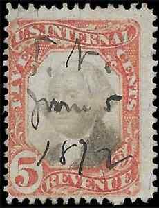 Mr B's US Used 1872 Washington Revenue  #R137  - FREE SHIPPING