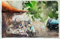 Original Aquarell, Watercolor, Gemälde Malerei Painting impressionistisch