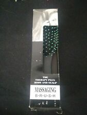 Therapy Plus Body and Scalp Massage Hair Brush with 2 Massaging Speeds - NEW!
