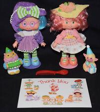 Vintage ~ Strawberry Shortcake ~ PEACH BLUSH & PLUM PUDDIN' ~ Dolls w/ Pets