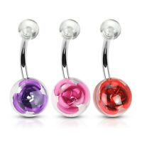 2 lot GOLD Plated GEM Ball Twist BELLY Button NAVEL RINGS Piercing Jewelry A1F9
