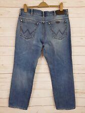 Wrangler Mens Stonewashed Blue Regular Fit Straight Leg Zip Fly Jeans W36 L30