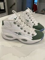 Men's Reebok Iverson Question Mid Michigan State Spartans Used 11.5 Rare Green