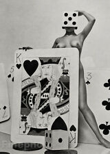 1950s Vintage SURREAL FEMALE NUDE Gambling Dice Cards Photo Litho ~ ZOLTAN GLASS