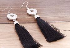 Handmade DIY hot dangle earrings fit nosa chunk snap button j3528