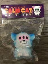 made in japan One up x art junkie CALM CAT Sofubi Sofvi Figure Kaiju Blue
