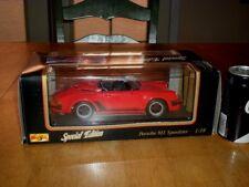 1989 PORSCHE 911 SPEEDSTER, SPORT CAR, MAISTO, DIE CAST METAL Car Toy,Scale 1/18