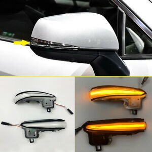 LED Side Mirror Sequential Dynamic Turn Signal Light For Toyota RAV4 2019-2020