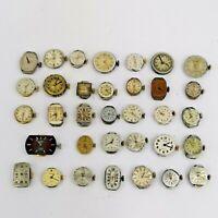 Over 30 Ladies Vintage Watch Movements, Some ETA/AS Etc. Good for Parts (DC38)