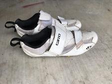 Giro Men's Mele Elite Tri Cycling Bike Shoes EU46 US12.5 White 3 Bolt