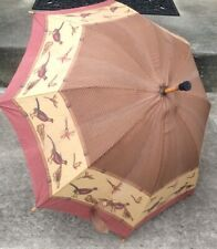 Vtg Polo Ralph Lauren Unisex Umbrella Herringbone and Pheasants