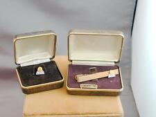 RARE 10k Gold & Diamond BNA Law Service Pin & Tie Bar