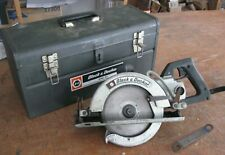 Black & Decker 7-1/4 in. worm drive circular saw in metal case