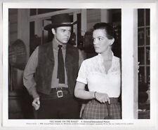 AUDIE MURPHY & JOAN EVANS 1959 western Vintage Orig Photo NO NAME ON THE BULLET