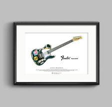Joe Strummer's 1966 Fender Telecaster ART POSTER A3 size