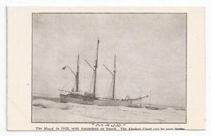 Roald Amundsen / Hudson's Bay Co MAUD Arctic Exploration Ship Unused Homemade PC