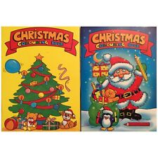 2 x A6 CHRISTMAS COLOURING MINI BOOKS PARTY BAGS GIFT STOCKING FILLER