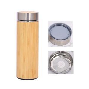 Bamboo Steel Tumbler Flask