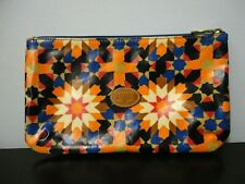 Fossil Geometric Flowers Multicolor Luxury Cosmetic Bag Makeup Pouch Clutch